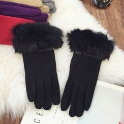 Pompabee - Furry Trim Gloves