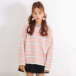 AiAi Bear - Striped Long Sweater