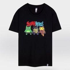 the shirts - Round-Neck Printed T-Shirt