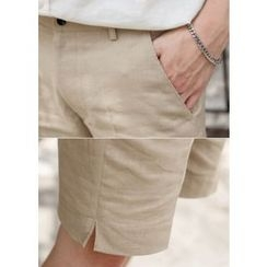 GERIO - Flat-Front Shorts