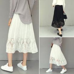 Enocula - 蕾絲中長裙