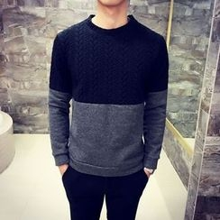 MEING - Cable-Knit Panel Top