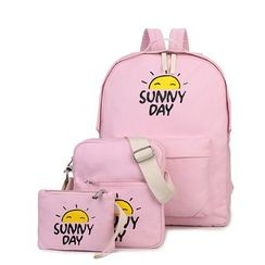 Crystal - Set: Sun Print Backpack + Bodycross Bag + Pouch