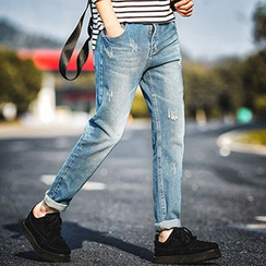 Gurun Vani - Washed Straight Jeans