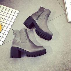 Micha - Chunky Heel Platform Ankle Boots
