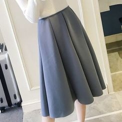 Honeydew - Plain Ruffle Midi Skirt