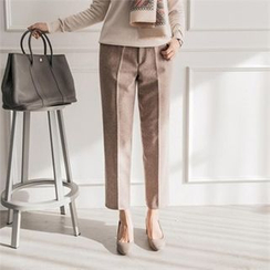 JOAMOM - Flat-Front Stright-Cut Pants