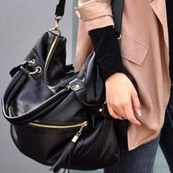 Clair Fashion - Faux Leather Carryall Bag