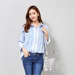Styleberry - Pintuck-Detail Shirt