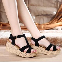 Hannah - T-Strap Platform Sandals