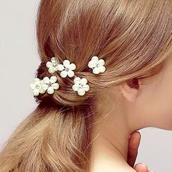 Puru Lia - Faux-Pearl Flower Hair Pin