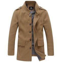 RIVOLO - Stand Collar Woolen Coat