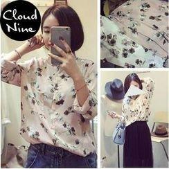 Cloud Nine - Floral Print Chiffon Shirt
