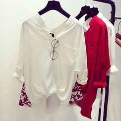 Bloombloom - Oversize Chiffon Shirt