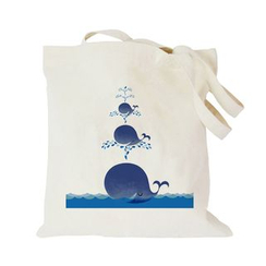 Bags 'n Sacks - Whale Print Canvas Shopper Bag