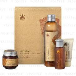 Innisfree - Jeju Volcanic Pore care Set (4 items): Toner 200ml + 70ml + Mask 100ml + Foam 30ml