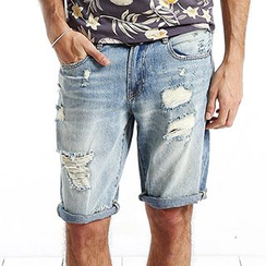 Simwood - Distressed Denim Shorts