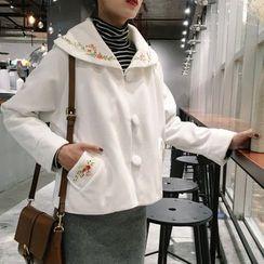 Frontline - Flower Embroidered Woolen Jacket
