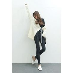 ATTYSTORY - Tie-Front Long Cardigan