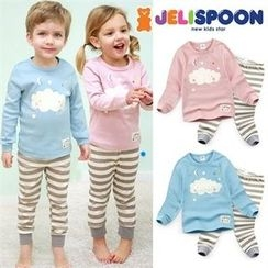 JELISPOON - Kids Pajama Set: Printed Top + Pants