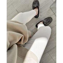 UPTOWNHOLIC - Band-Waist Flat-Front Pants