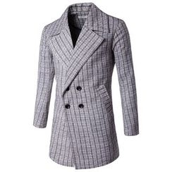 Fireon - Plaid Trench Jacket