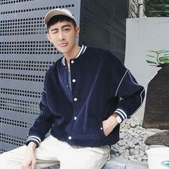 Mr. Cai - Buttoned Baseball Jacket