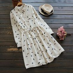 YOYO - Printed Shirtdress