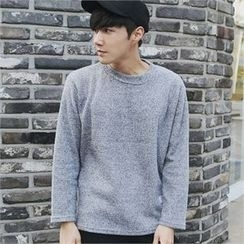 MITOSHOP - Crew-Neck Waffle-Knit Top