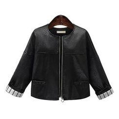 VIZZI - Faux Leather Jacket