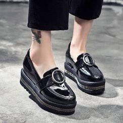 VIAN - 漆皮厚底乐福鞋