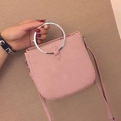 Youme - Metal Ring Handle Shoulder Bag