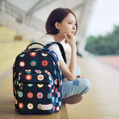 SUPER LOVER - Printed Canvas Backpack
