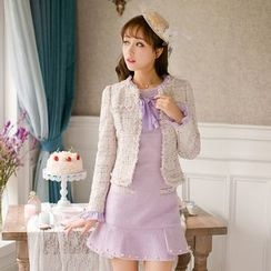 Candy Rain - Melange Tweed Jacket
