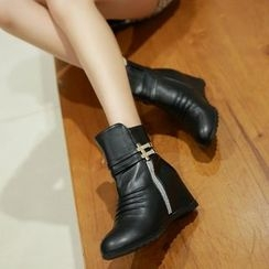 Shoes Galore - Hidden Wedge Ankle Boots