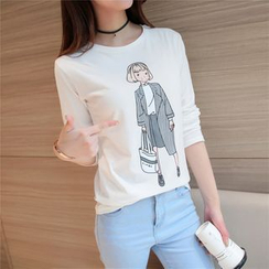 Raison d'etre - Long-Sleeve Printed T-Shirt