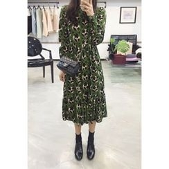 OZNARA - Patterned A-Line Long Dress