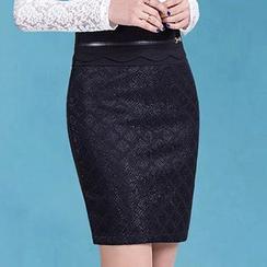 Manilu - High-Waist Pencil Skirt