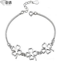 DIJING - Clover Sterling Silver Segment Bracelet