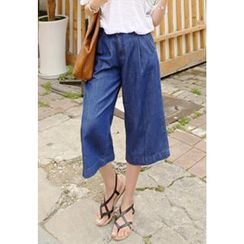 REDOPIN - Wide-Leg Cropped Jeans