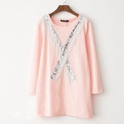 Shannon - Sequined Long Sleeve Tunic