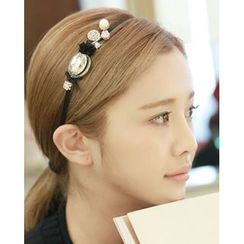 Miss21 Korea - Corsage Embellished Slim Hair Band