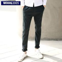 WOOG - Drawstring Straight Leg Pants