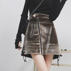 Sonne - 加厚丝绒半身裙