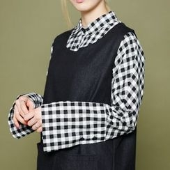 Envy Look - Wide-Cuff Check Shirt
