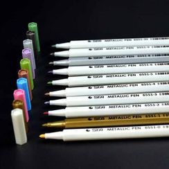 Chise - Metallic Coloured Marker Pen Set