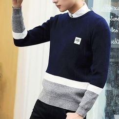 Really Point - Color Block Sweater