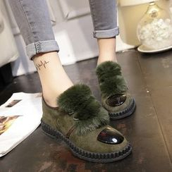 Yoflap - Furry Lace-Up Shoes