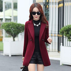 Donnae - Notched-Lapel Double-Breasted Coat