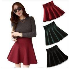 CHERJOE - Knitted A-Line Skirt